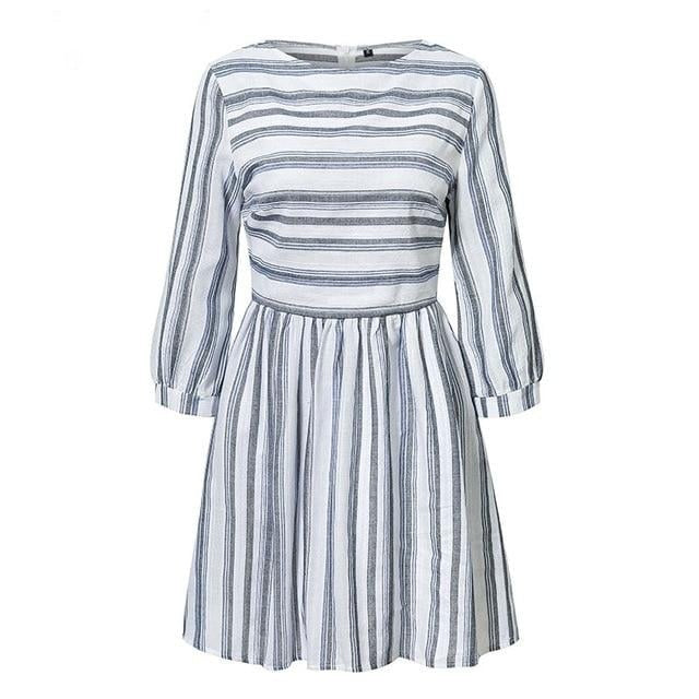 Striped jersey smock dress - Blue Belle Alley
