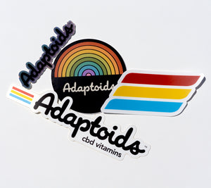 Adaptoids CBD Vitamins Sticker Pack