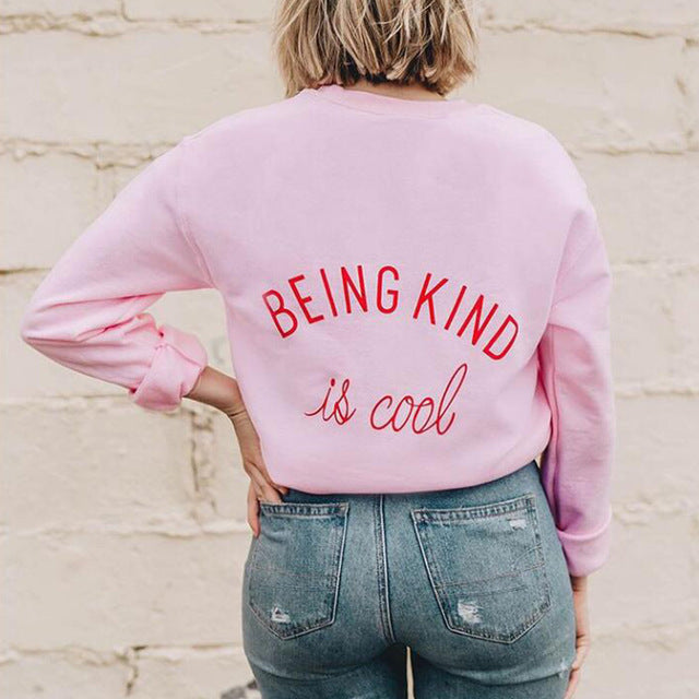 """BEING KIND IS COOL"" Women's Oversized Sweatshirt FREE SHIPPING Click to Purchase"