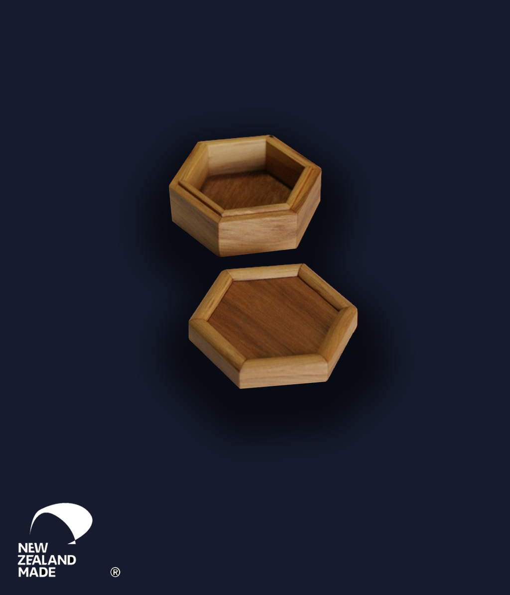 Hexagonal Rimu Box Small