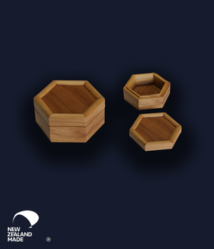 Hexagonal Rimu Box Medium
