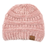 C.C Ribbed CHENILLE KNITTED BEANIE