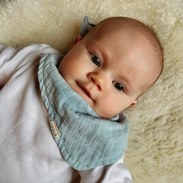 LIMITED EDITION Land & Sea (Day) - Two Piece Reversible Scarf Bib Set - LOMIE baby