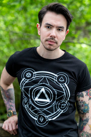 Polyhedral Spell Circle Tee - Cantrip Brand
