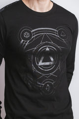 (Shadow) Polyhedral Spell Circle Long Sleeve Tee - Cantrip Brand