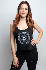 Polyhedral Spell Circle Crop Tank - Cantrip Brand
