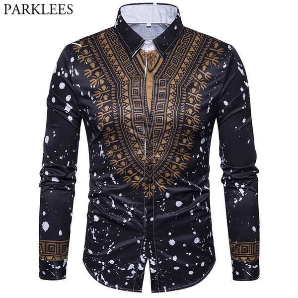 Africa Slim Fit Long Sleeve Shirts