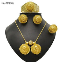 Ethiopia Gold colour Fashion Jewellery Sets For Women