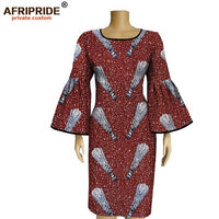 Spring and autumn Africa sleeve knee length dress for women