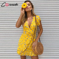 Women Vintage Floral Short Summer Dress