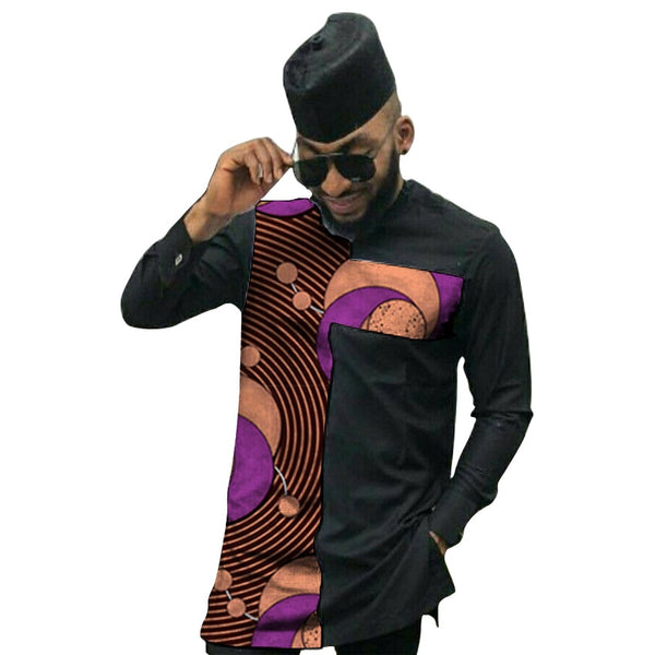African clothing men's shirt slim fit