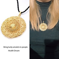 Africa Real gold plating Sun God Necklace