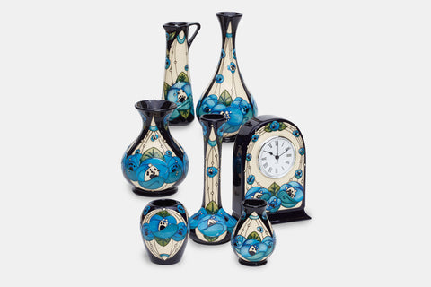 Moorcroft Rennie Rose Blue