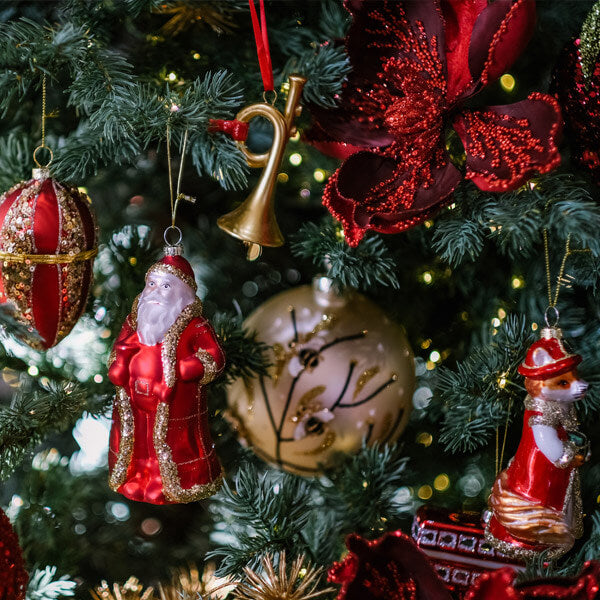 Traditional Red & Gold Christmas Decorations
