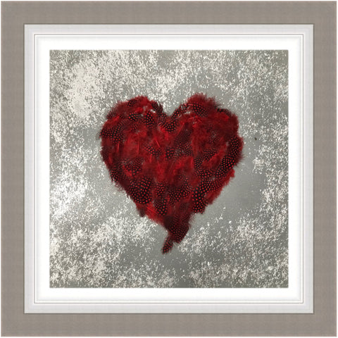 Buy Clare Wright Valentine Heart Red Feathers