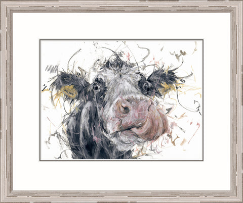 Aaminah Snowdon Cheeky Cow (2017) Framed