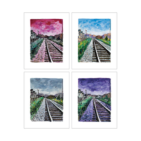 Bob Dylan Train Tracks Portfolio of 4 (2018) Signed Limited Edition of 295