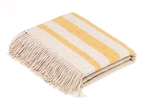 Bronte By Moon Seville Throw Cream/Yellow