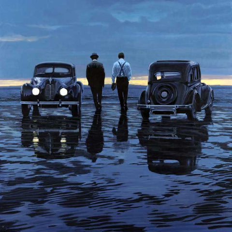 A signed limited edition giclee on paper of 95 by artist, Iain Faulkner entitled Rendezvous