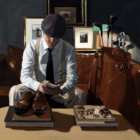 A signed limited edition giclee on paper of 150 by artist Iain Faulkner entitled Scorecard