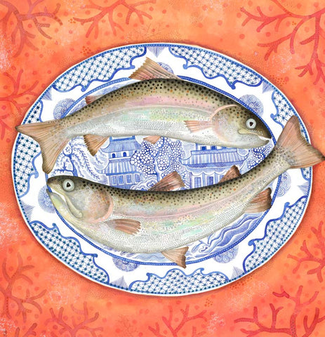 Buy Jane Ray Trout & Willow Pattern (20180 - Framed