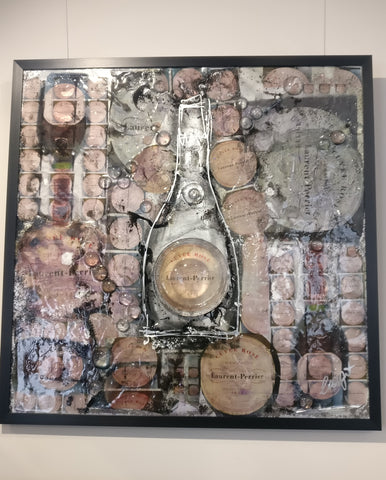 Laurent Perrier Collage (2020) Clare Wright