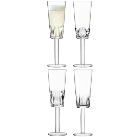 LSA International Tatra Champagne Flute Set of 4