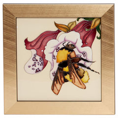 Moorcroft - Set of 4 Bee Plaques PLQ7 (2019)