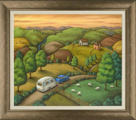 Paul Horton The Open Road Framed Canvas On Board