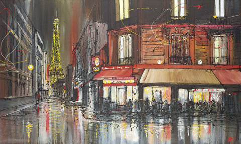 Paul Kenton Paris After Dark (2014) - Box Canvas