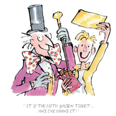QUENTIN BLAKE - Charlie & The Chocolate Factory - It's The Fifth Golden Ticket