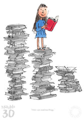 Quentin Blake - Matilda 30th Anniversary- I Think I Can Read Most Things