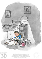 Quentin Blake - Matilda 30th Anniversary- Her Own Small Bedroom