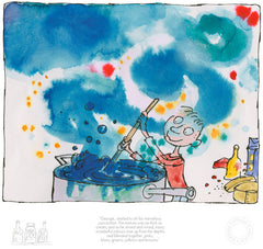 Quentin Blake - George's Marvellous Medicine - George Started To Stir His Marvellous Concoction (2017)