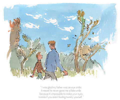 Quentin Blake I Was Glad My Father Was an Eye Smiler