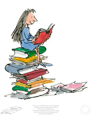 Quentin Blake - Matilda - Her Own Small Bedroom Became Her Reading Room (2017)