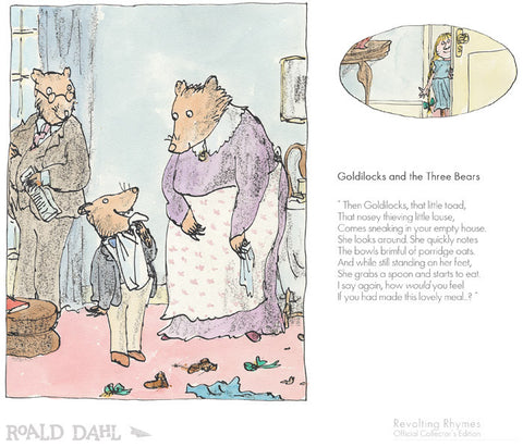 Quentin Blake Illustration for Roald Dahl Goldilocks And The Three Bears (2017)