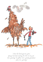 QUENTIN BLAKE - George's Marvellous Medicine - The Hen Began To Grow