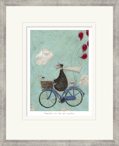 Sam Toft Imagination Can Take You Anywhere (2016) - Framed
