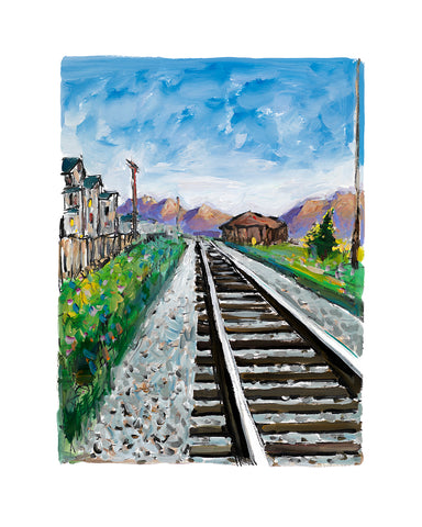 Bob Dylan Train Tracks Blue (2018) Signed Limited Edition of 295