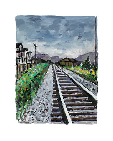 Bob Dylan Train Tracks Grey (2018) Signed Limited Edition of 295