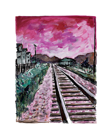 Bob Dylan Train Tracks Red (2018) Signed Limited Edition of 295