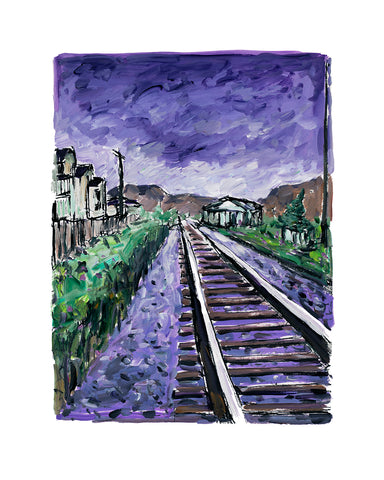 Bob Dylan Train Tracks Purple (2018) Signed Limited Edition of 295