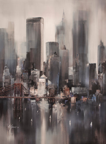 Wilfred Lang New York Heights (2017) Boxed Canvas