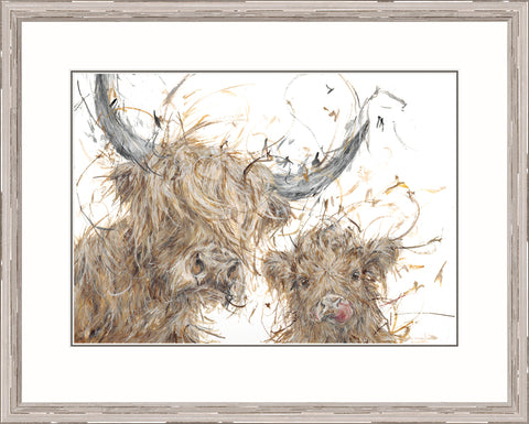 Aaminah Snowdon Big Coo,Little Coo (2017) Framed