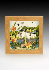 MOORCROFT - Dove Cottage PLQ8