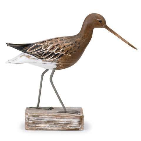 Archipelago Godwit Straight Hand Carved Wooden Birds