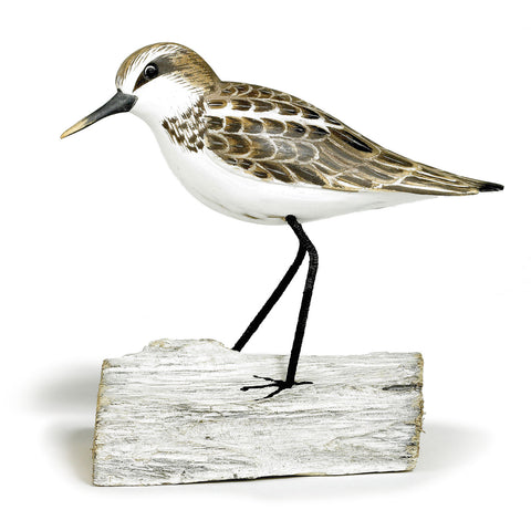 Archipelago Little Stint Standing Hand Carved Wooden Birds