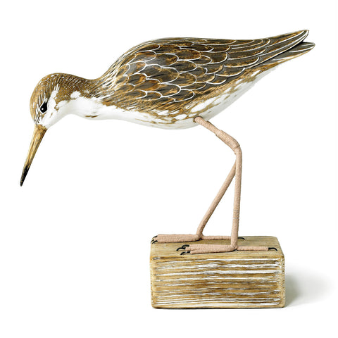 Archipelago Ruff Feeding Hand Carved Wooden Birds