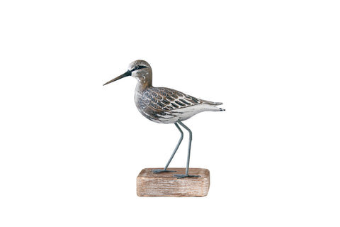 Archipelago Sandpiper Straight Hand Carved Wooden Bird